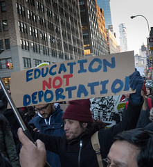 Immigration Rally Downtown Manhattan