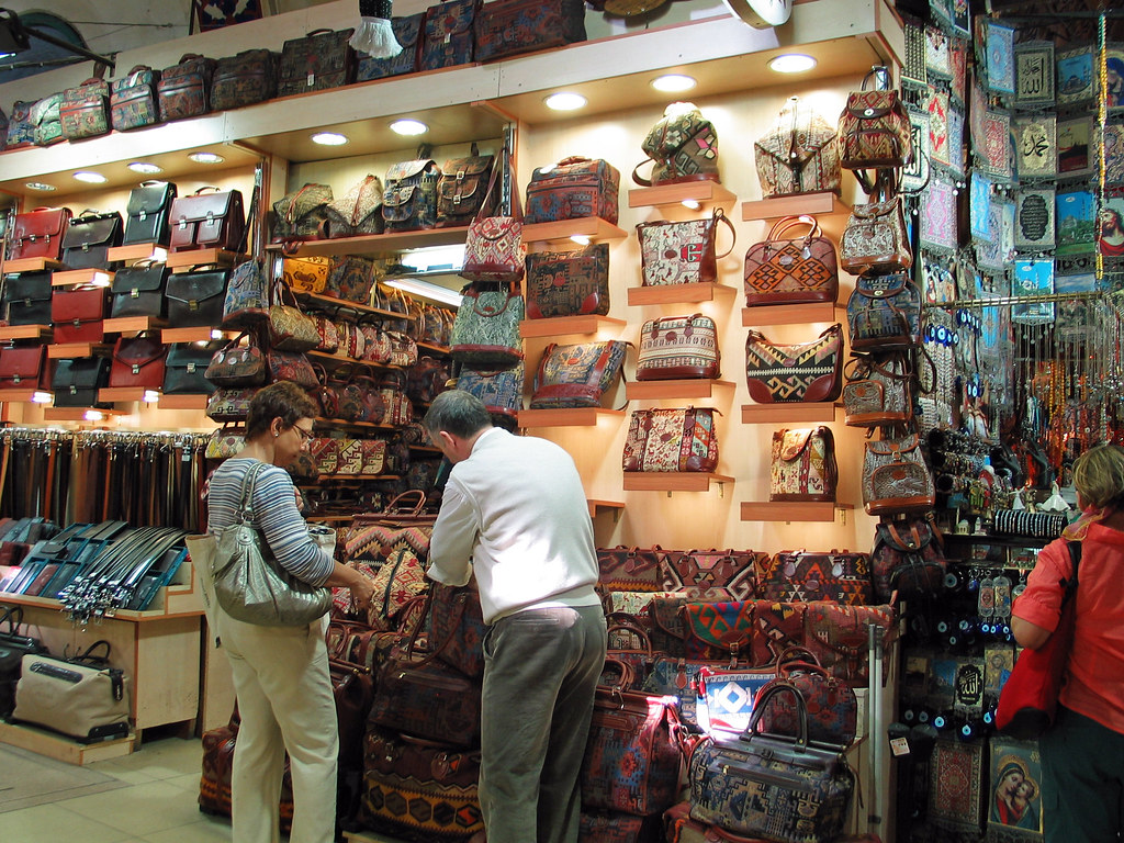 Istanbul - October 2008 - Grand Bazaar - Leather Goods