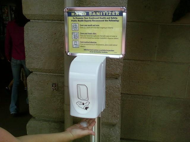 Hand Sanitizer at Disney World