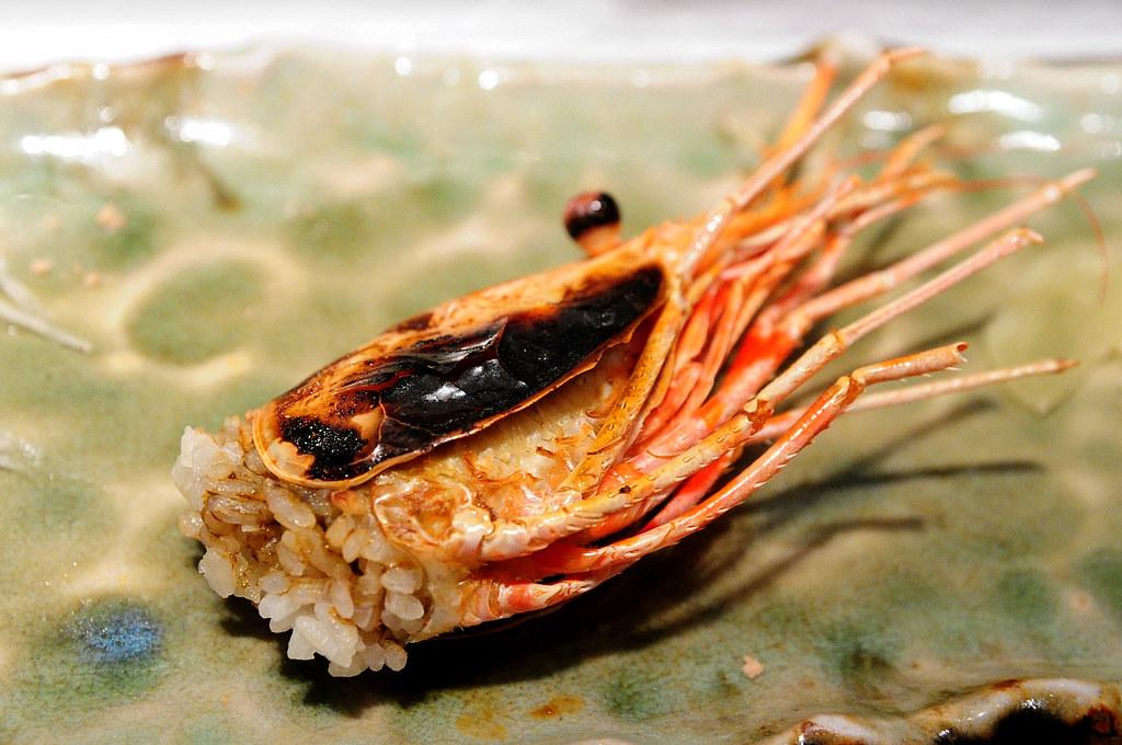 筌壽司-烤牡丹蝦頭飯