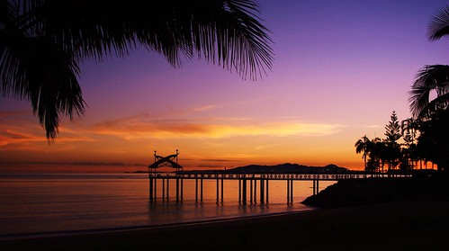 water sunrise pier australia pals wharf queensland townsville justpentax pentaxk200d