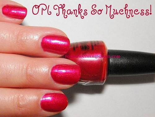 OPI Thanks So Muchness!
