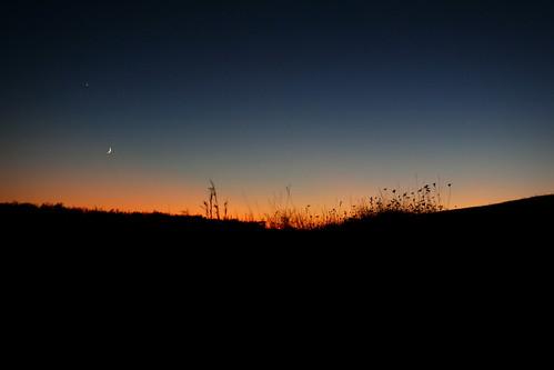 autumn sunset sky moon dusk panasonic shenandoah bigmeadows fz50 whilemyguitargentlyweeps