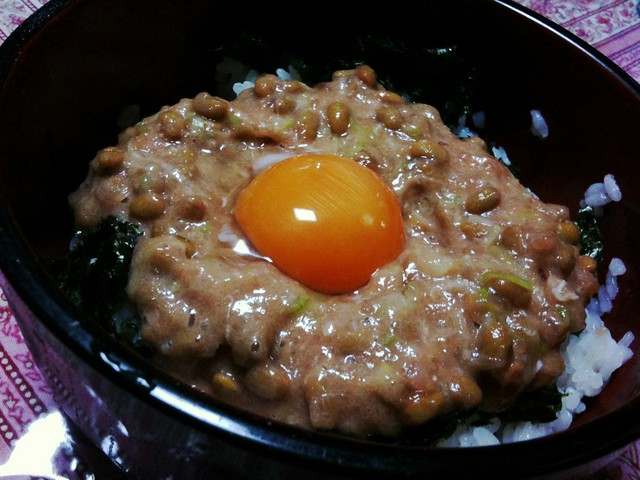#jisui まぐろ納豆ユッケ丼作った。