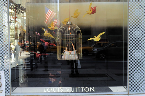 Louis Vuitton Bags in Cages