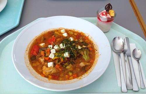 Griechischer Gemüsetopf mit Schafskäse / Gree vegetable stew with feta