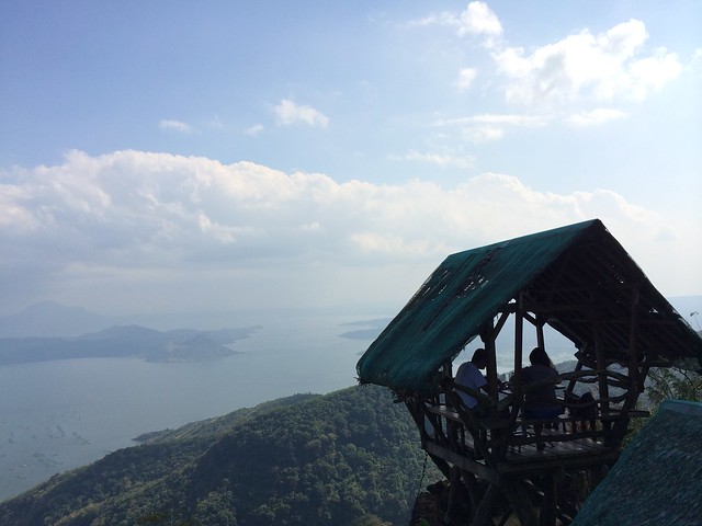Raised hut overlooking Taal Volcano