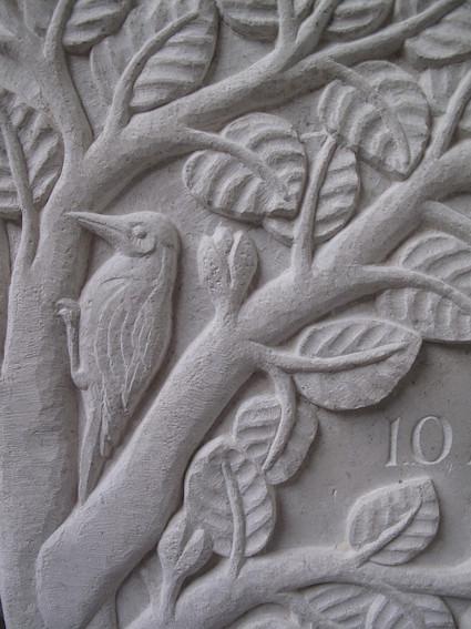 Woodpecker detail.