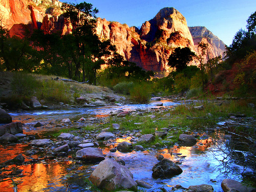 Virgin River in Zions National Park, Utah