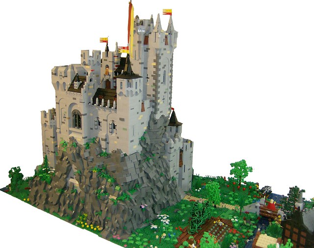rapunzel castle lego instructions