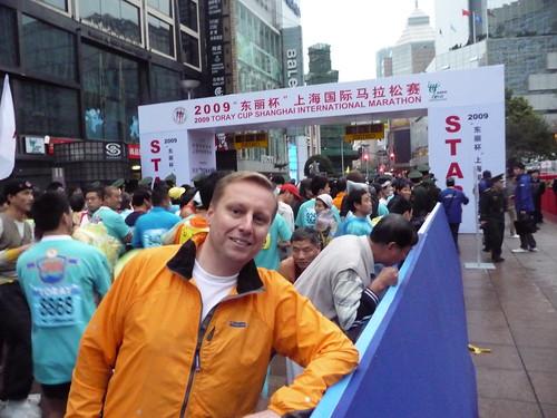 Marc before the start of the 2009 Shanghai Marathon