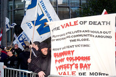 Steelworkers protest Vale in NYC