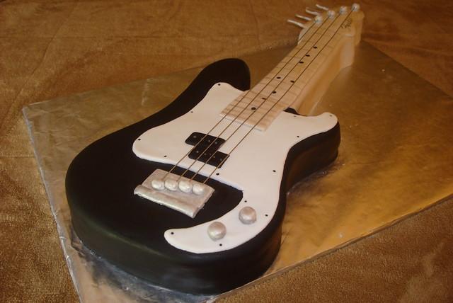Fender precision bass cake Flickr - Photo Sharing!