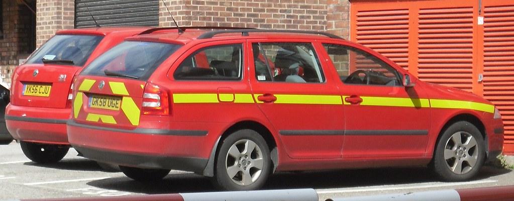 North Yorkshire Fire & Rescue Service - Skoda Octavia & Fabia Fire Cars