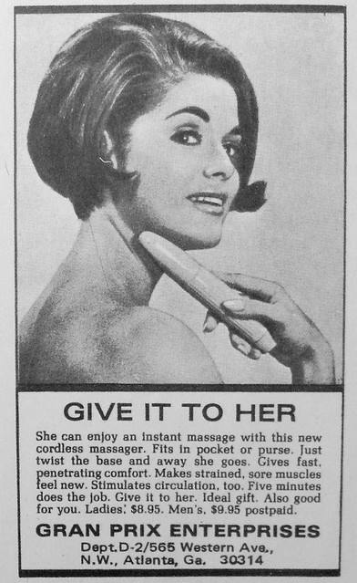 1960s Vibrating Massager Vintage Advertisement For Women Vibrator Photo Campy Kitsch Sexy Bawdy