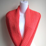 ARIA- Lightweight Infinity Scarf Solid Coral