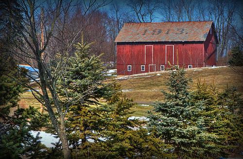 ohio barn rural landscape geotagged nikon raw nef farm country rustic pinetrees hdr treefarm photomatixpro massillonohio abigfave d3s starkcountyohio micronikkor105mmf28vr nikongp1 pse8 crystalspringsohio