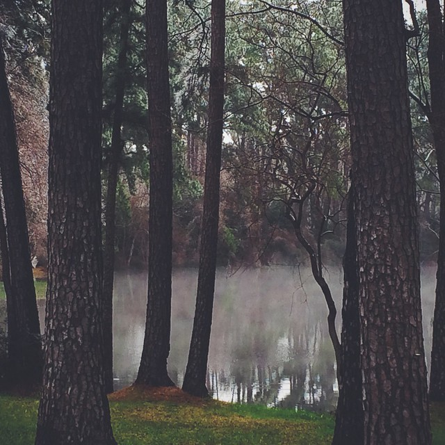 smoke over water