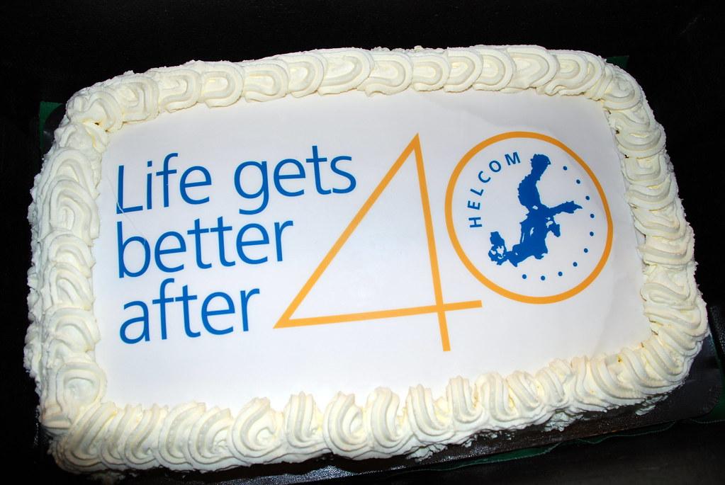 HELCOM 40 Years Birthday Cake