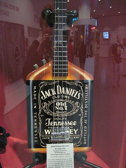 Jack Daniel's bottle bass guitar - Michael Anthony of Van ...