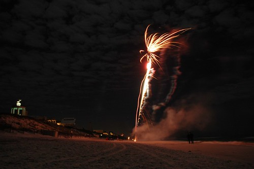 Seaside New Year's Fireworks