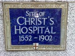 Photo of Christ's Hospital blue plaque