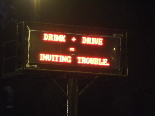 Drink + drive = inviting trouble