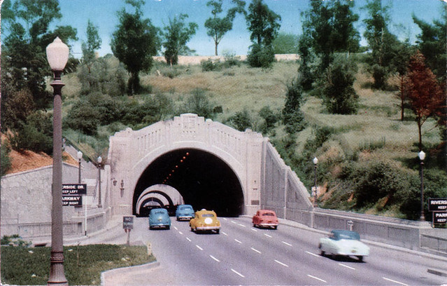 Figueroa Tunnels, Los Angeles 1940s - Later became the Pasadena Freeway, the 1st Freeway in the U.S.
