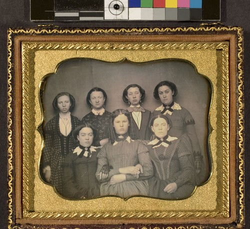 Portrait of unidentified group of young women - girl's school class portrait (?)