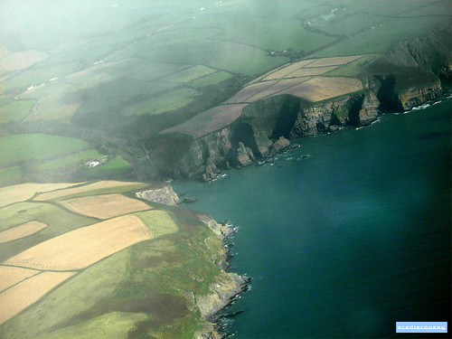 Southern Ireland coastline, aerial photograph