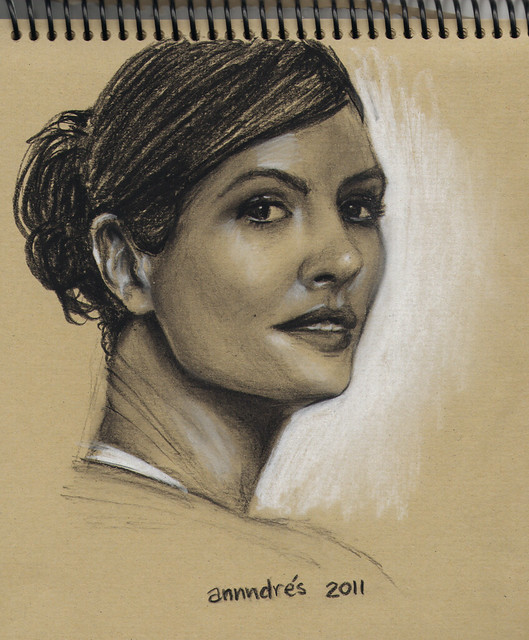 Dibujo De Rostro Mujer Woman Face Drawing Flickr Photo
