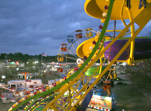carnival up georgia high view ride spin decatur birdseye