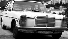 mercedes-benz w111(0.0), luxury vehicle(0.0), automobile(1.0), automotive exterior(1.0), vehicle(1.0), automotive design(1.0), mercedes-benz w114(1.0), mercedes-benz(1.0), compact car(1.0), antique car(1.0), sedan(1.0), classic car(1.0), vintage car(1.0), land vehicle(1.0), motor vehicle(1.0),