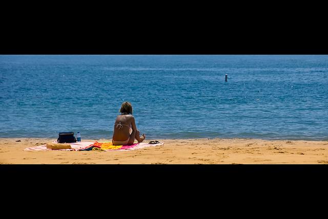 Beach candid