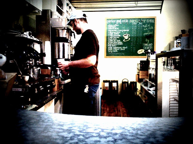 Barista Making Espresso (mobile)