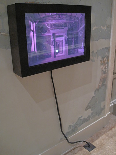 Industrial LCD monitor mounted indoors