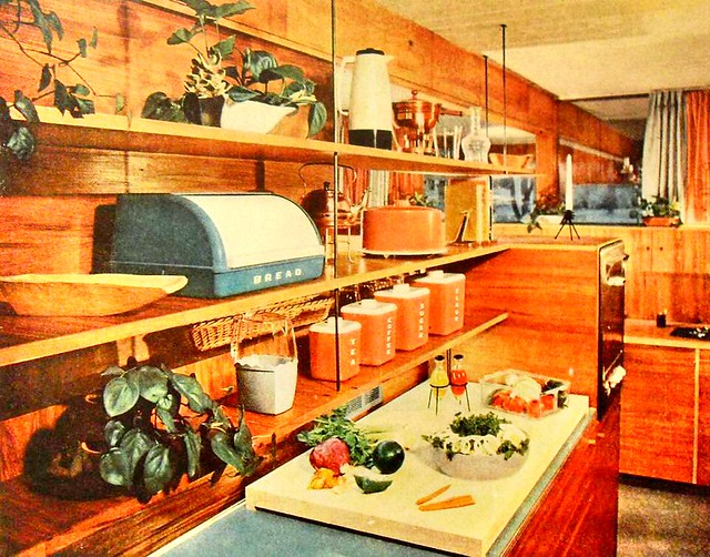 1950s kitchen midcentury interior design advertisement photo
