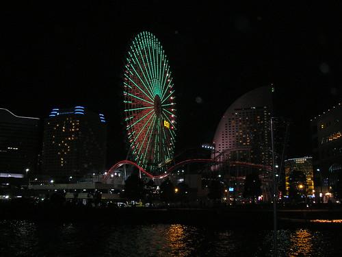 Minato Mirai 21 Area at night