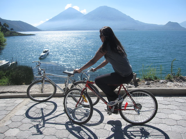 A bike ride around Lake Atitlan in the town of San Antonio Palopo