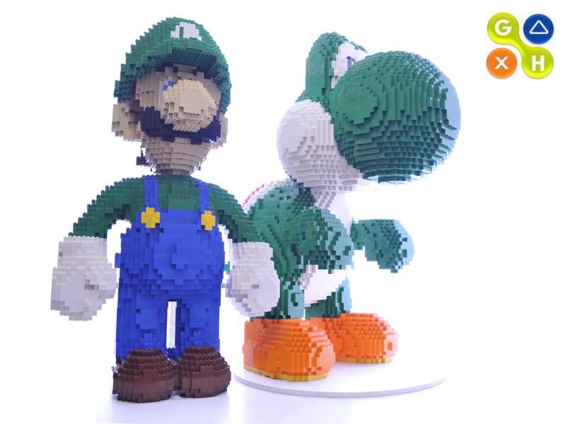 Lego Yoshi Luigi A Photo On Flickriver