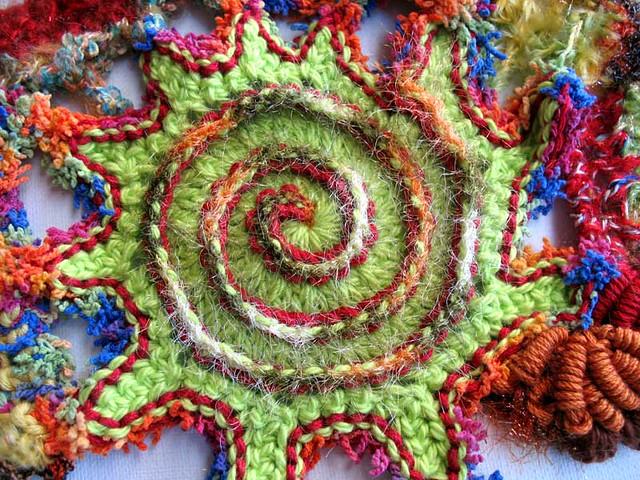 freeform crochet spiral