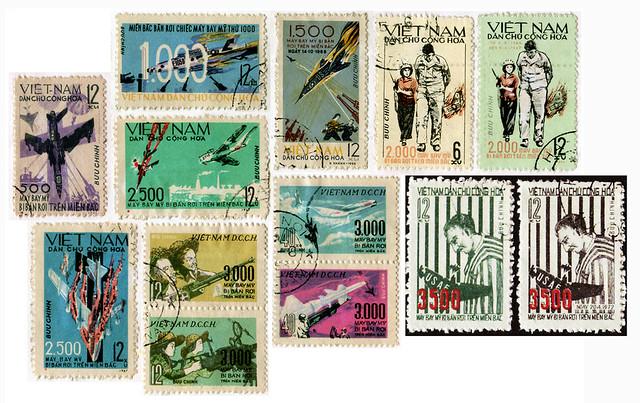 Hanoi propaganda stamps