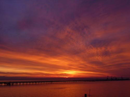 winter cloud sun fall nature sunrise mediterraneo nuvole mare post alba natura sole inverno natale azzurro arancio gargano foggia manfredonia stagione