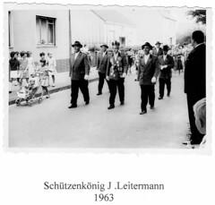 1963, Schützenkönig Josef Leitermann, SW093