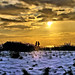 9614- Sun and Snow - Le Havre beach - golden sunset by Rolye