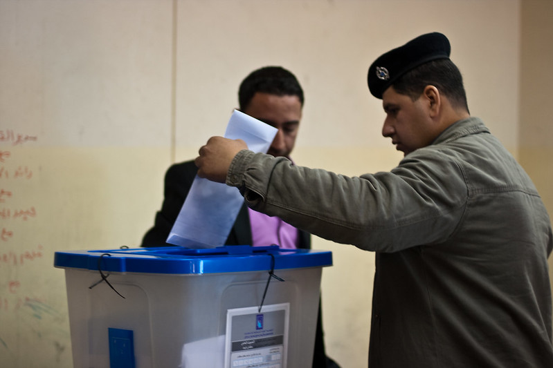 Security forces vote