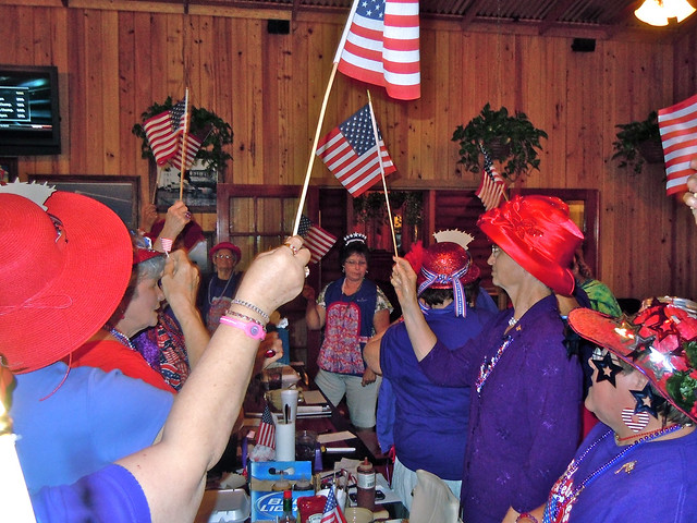 Red Hatters Celebrate Flag Day