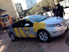 driving(0.0), police car(0.0), automobile(1.0), vehicle(1.0), compact car(1.0), chevrolet volt(1.0), sedan(1.0), land vehicle(1.0),
