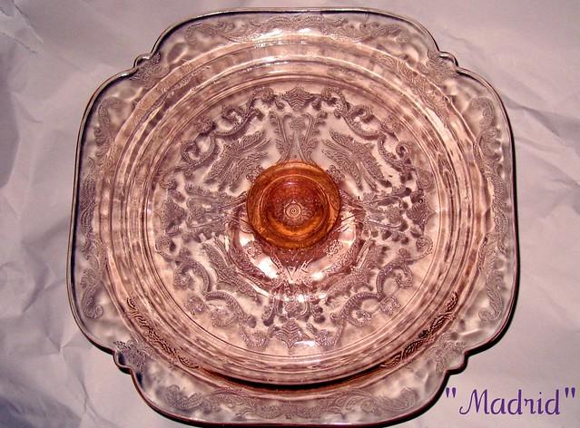 Crystal Cake Plate Vintage