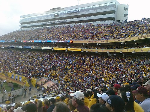 ASU fans at Sun Devil Stadium